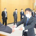 JAの顔として活躍誓う/新採用職員任用辞令交付式
